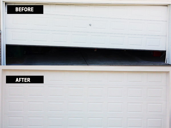 door off track - Garage Door Off Track
